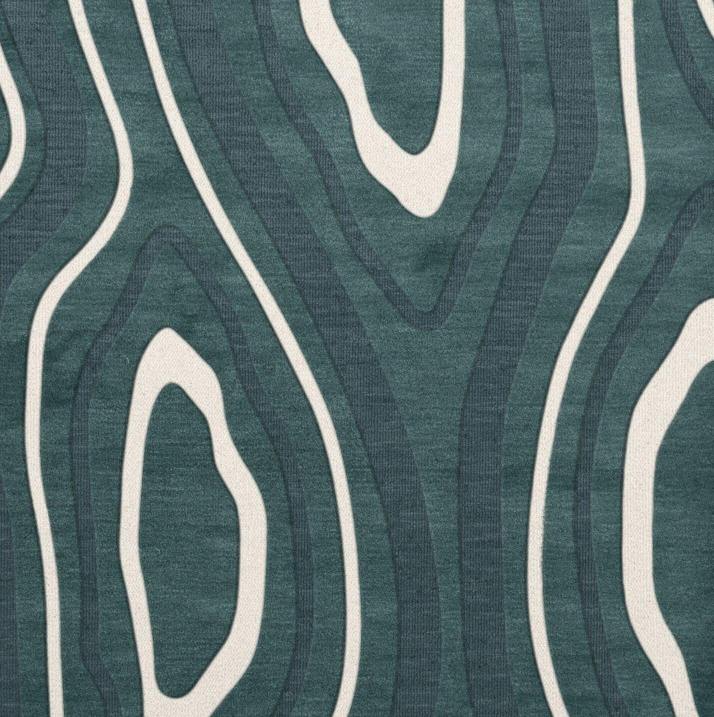 Sarahi Wool Geyser Area Rug Rug Size: Square 4'