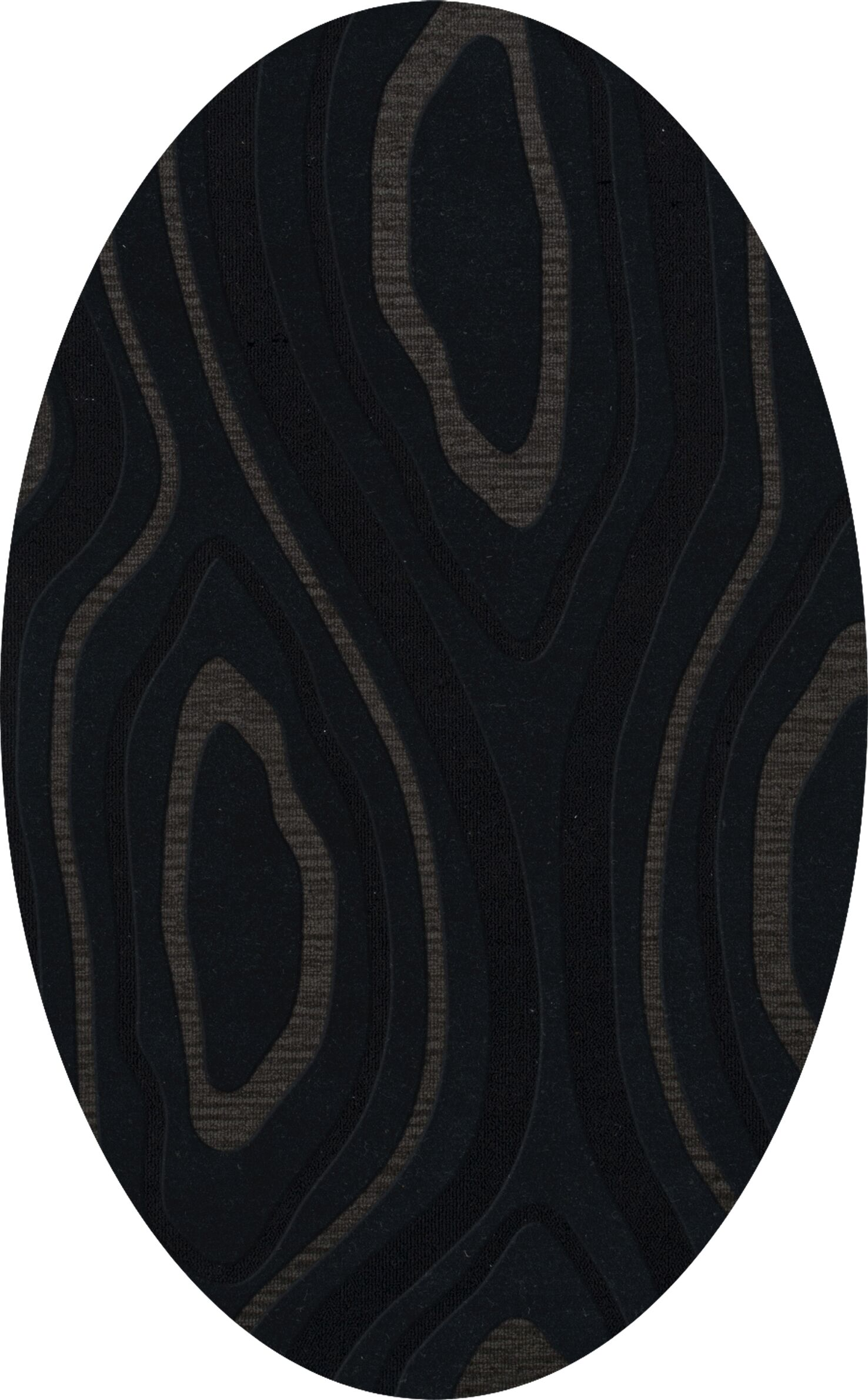Ireland Wool Pepper Area Rug Rug Size: Oval 8' x 10'