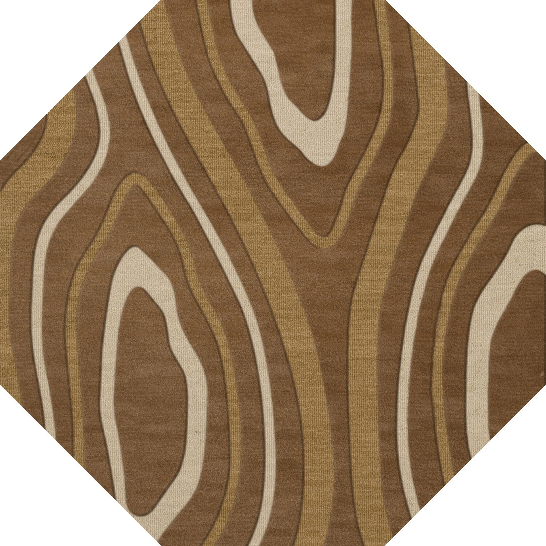Sarahi Wool Rattan Area Rug Rug Size: Octagon 6'