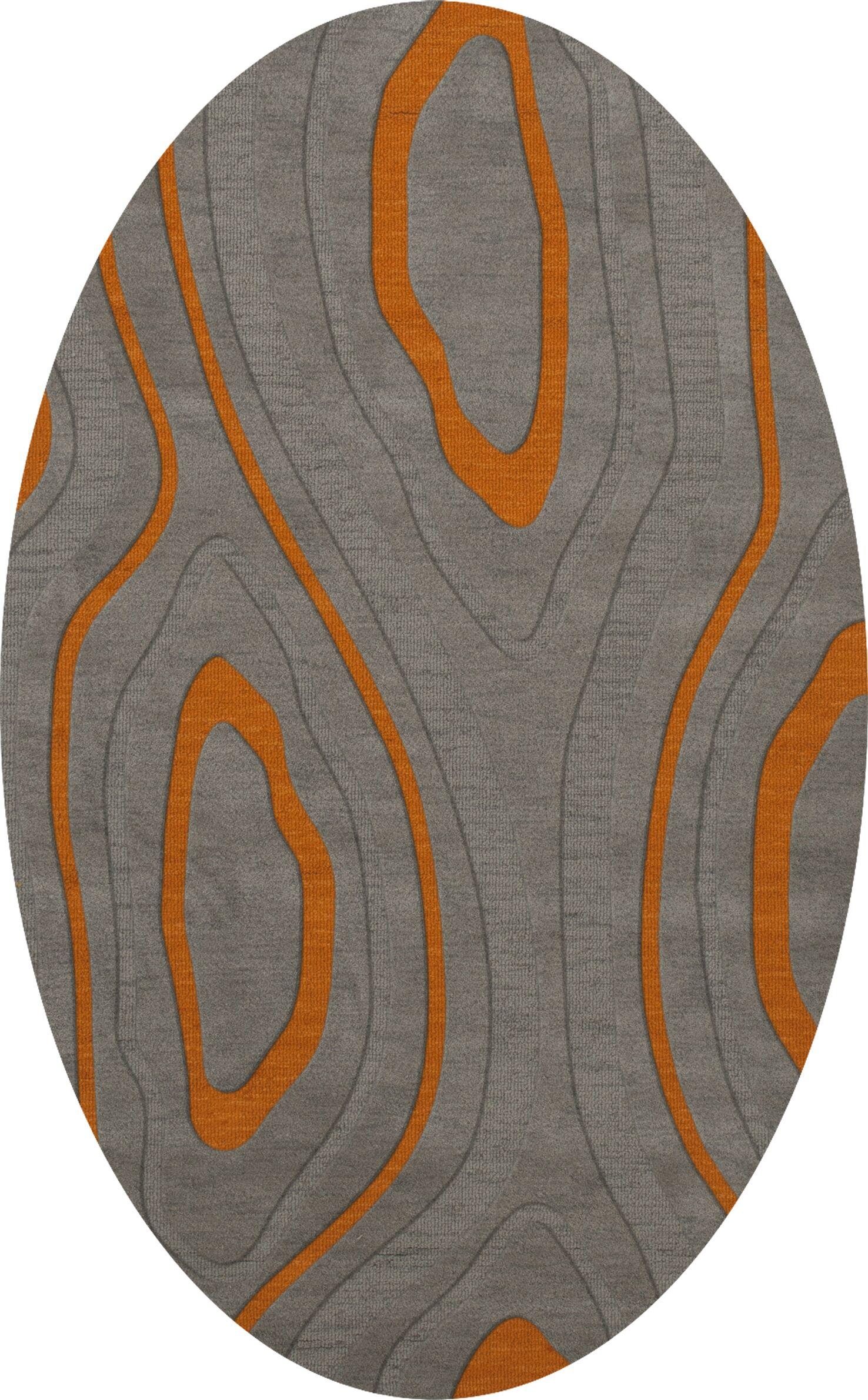 Sarahi Wool Zinc Area Rug Rug Size: Oval 12' x 18'