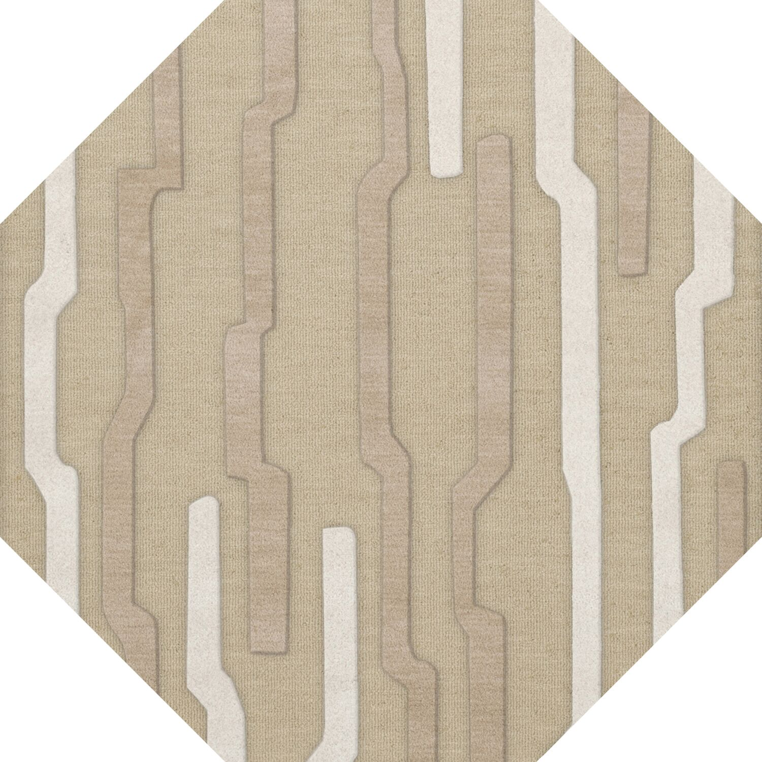 Hartsdale Wool Chopstick Area Rug Rug Size: Octagon 12'