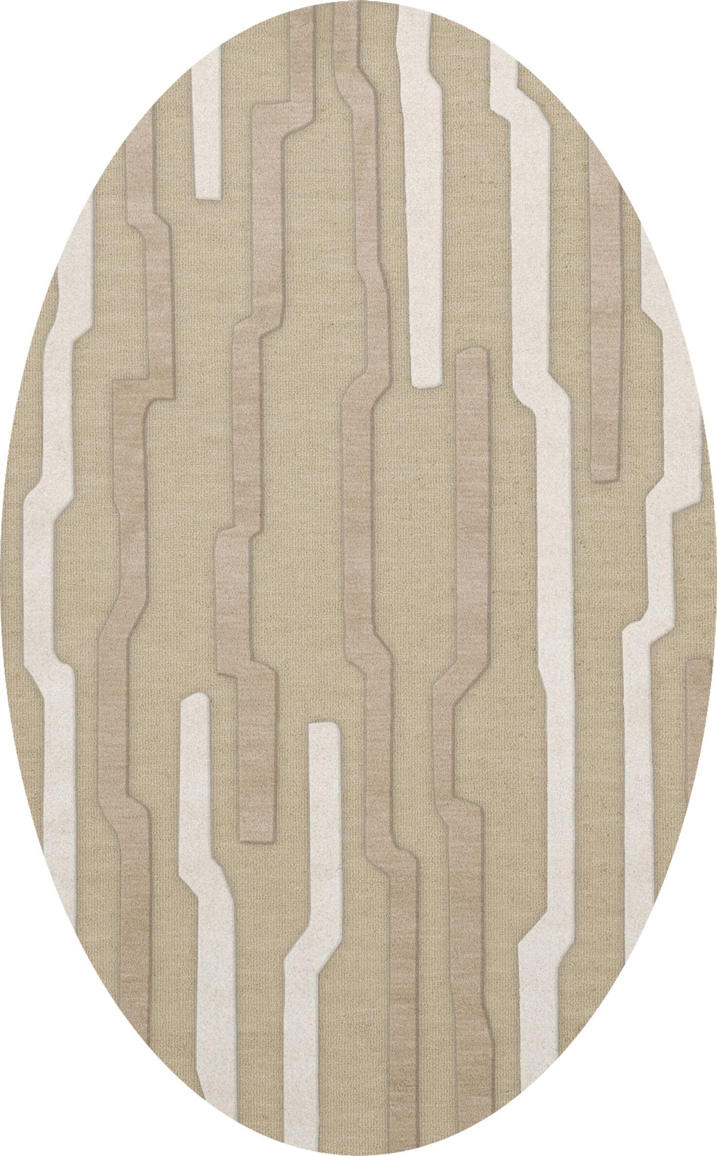 Hartsdale Wool Chopstick Area Rug Rug Size: Oval 6' x 9'