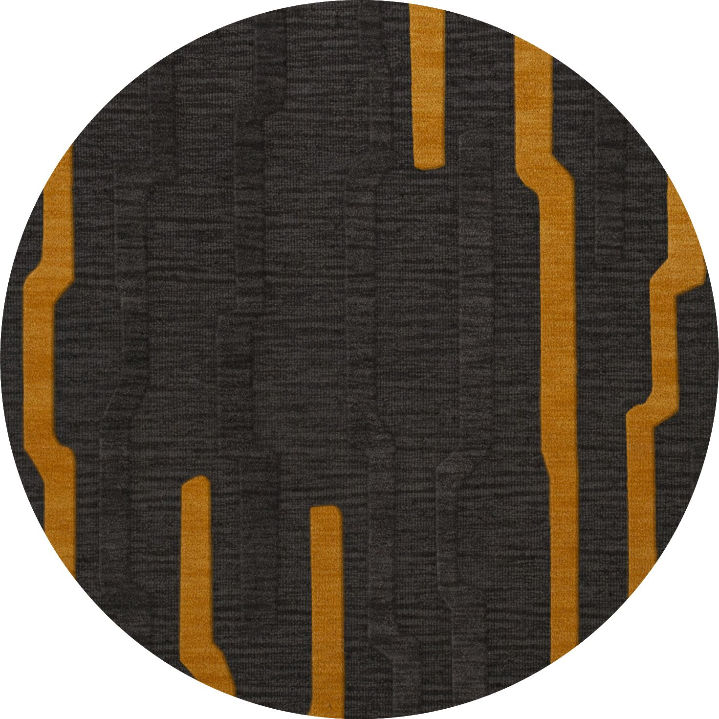 Haskett Wool Seal Area Rug Rug Size: Round 6'