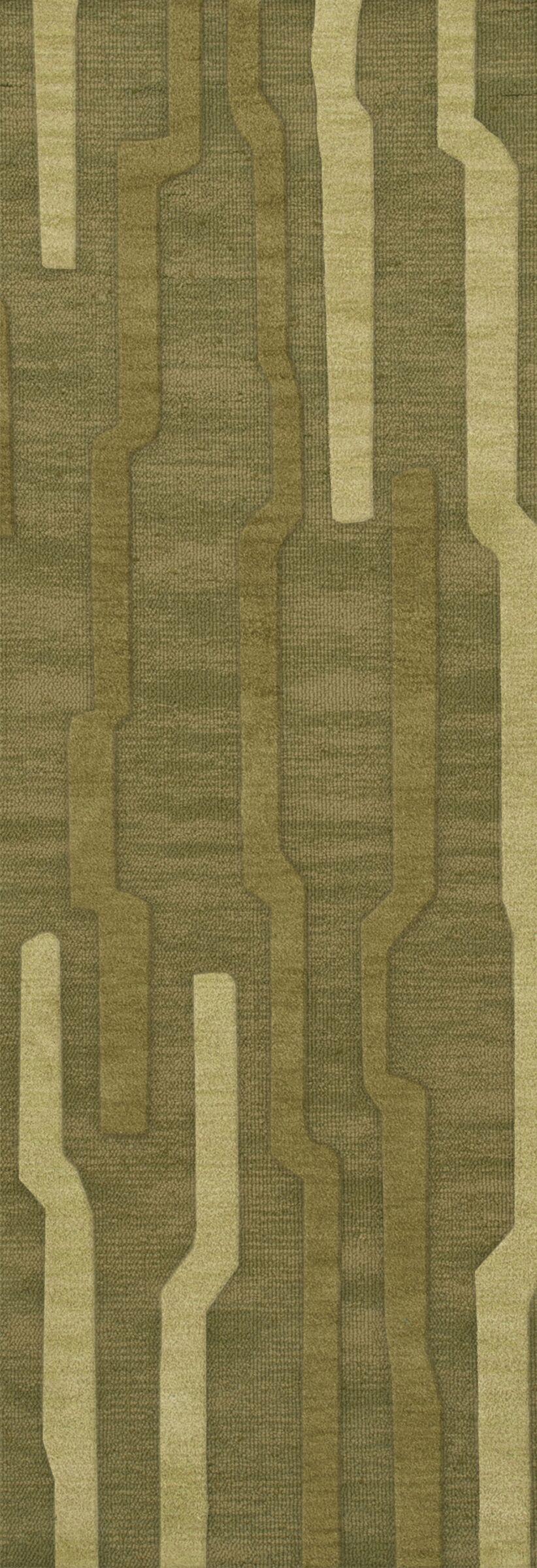Haslett Wool Tarragon Area Rug Rug Size: Runner 2'6