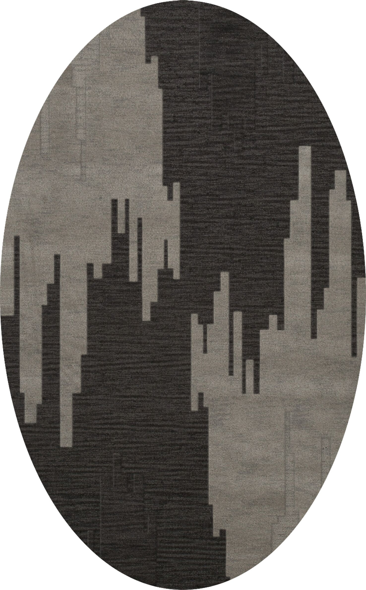 Hasse Wool Chinchilla Area Rug Rug Size: Oval 6' x 9'