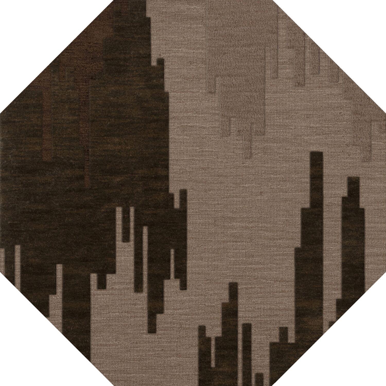 Haskin Wool Earth Area Rug Rug Size: Octagon 6'
