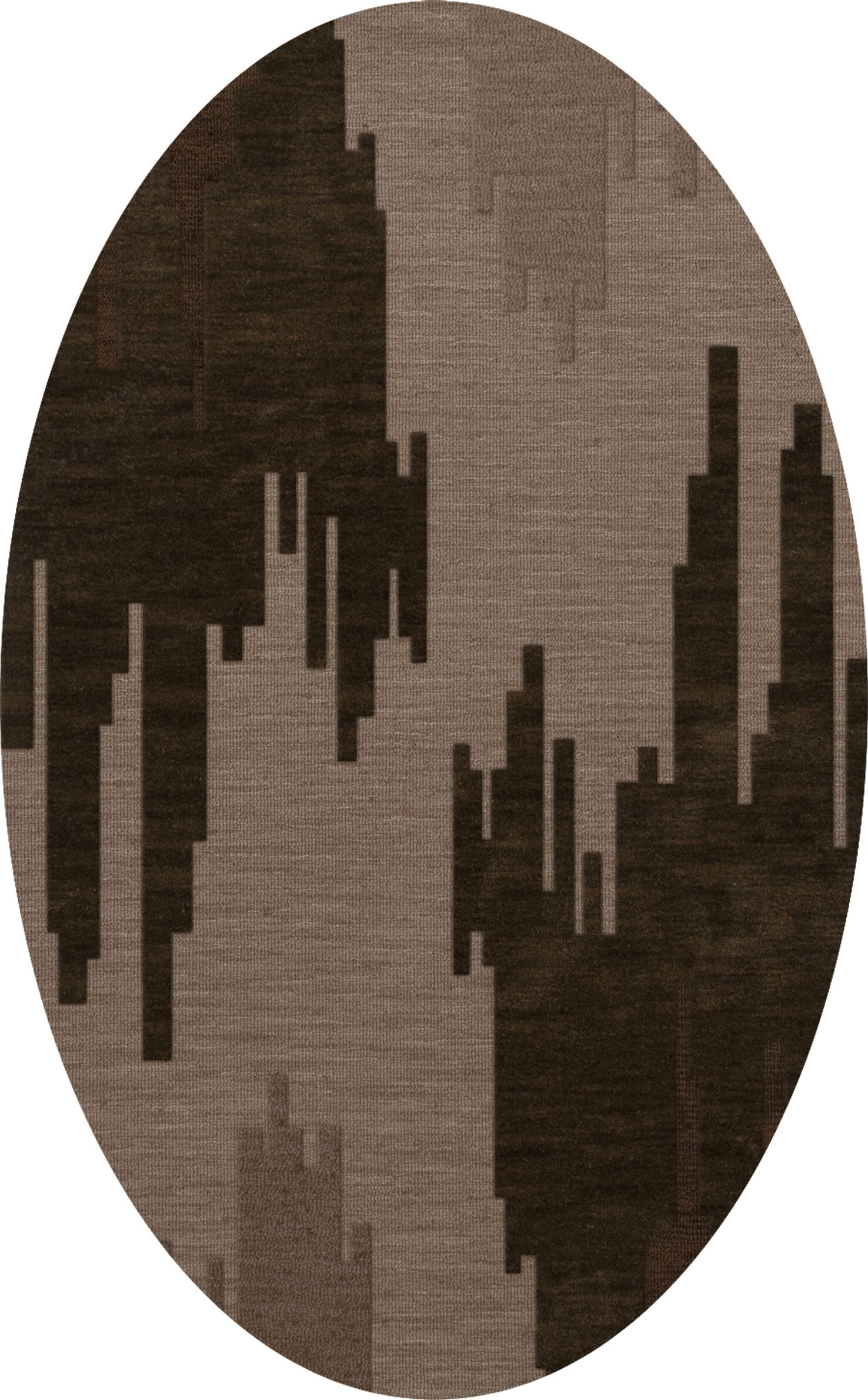 Haskin Wool Earth Area Rug Rug Size: Oval 12' x 15'