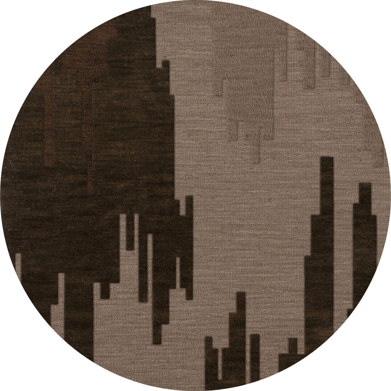 Haskin Wool Earth Area Rug Rug Size: Round 10'