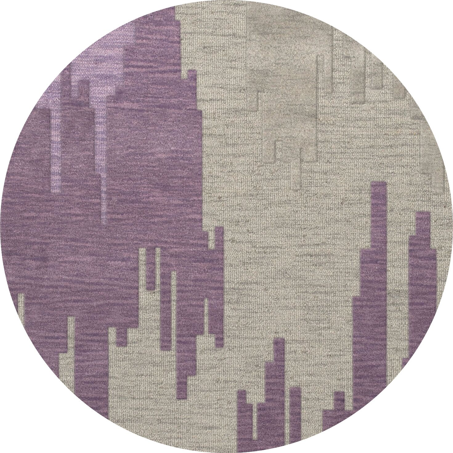 Haslett Wool Thistle Area Rug Rug Size: Round 6'