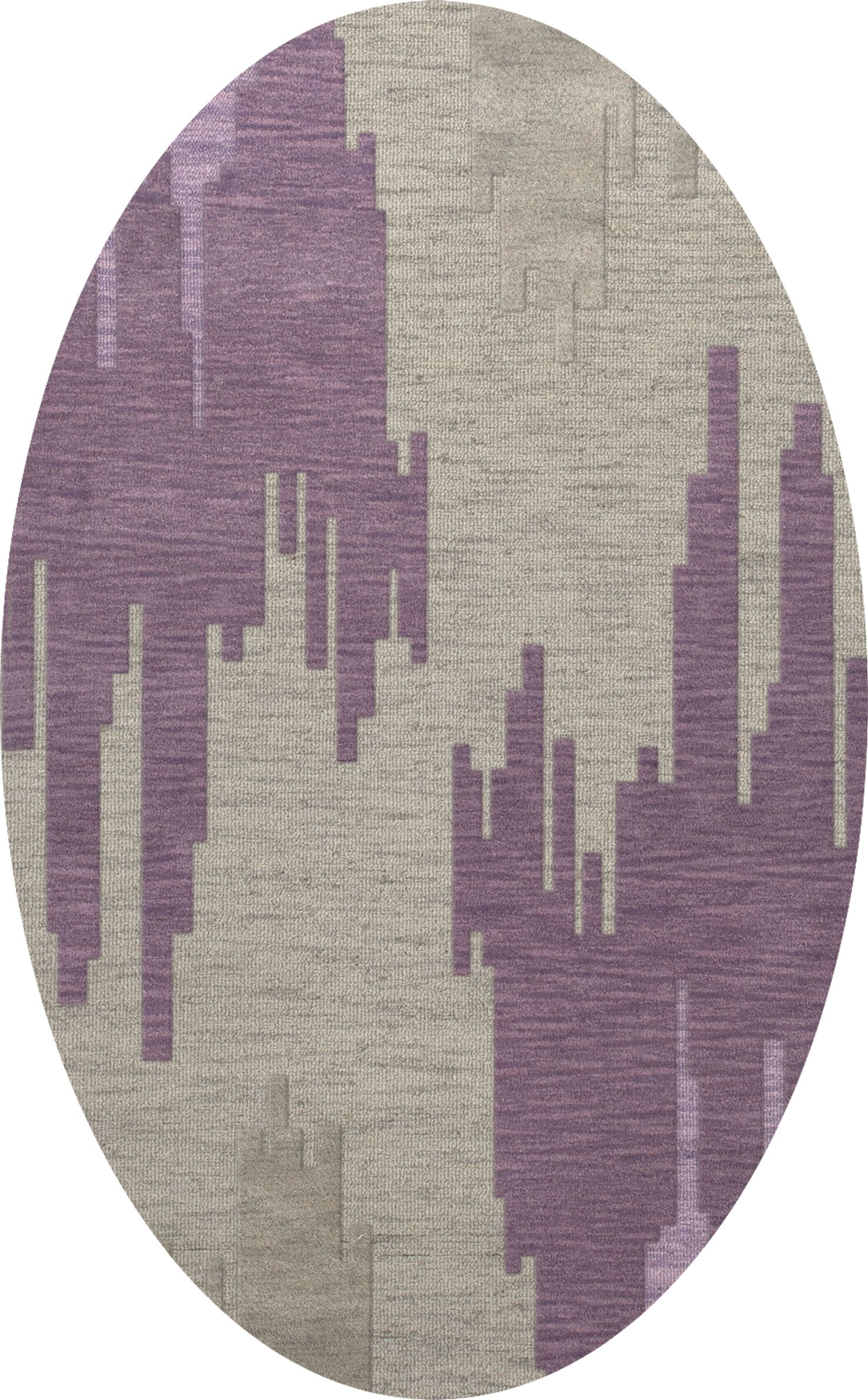 Haslett Wool Thistle Area Rug Rug Size: Oval 6' x 9'