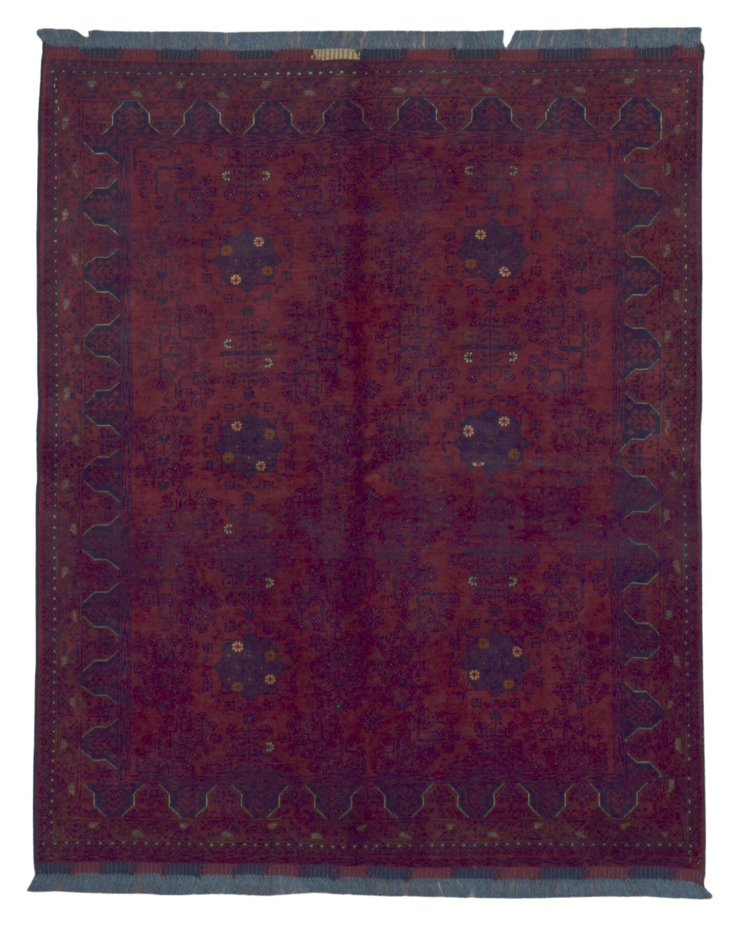 One-of-a-Kind Esperanza Traditional Khal Mohammadi Afghan Hand-Woven Wool Red Area Rug