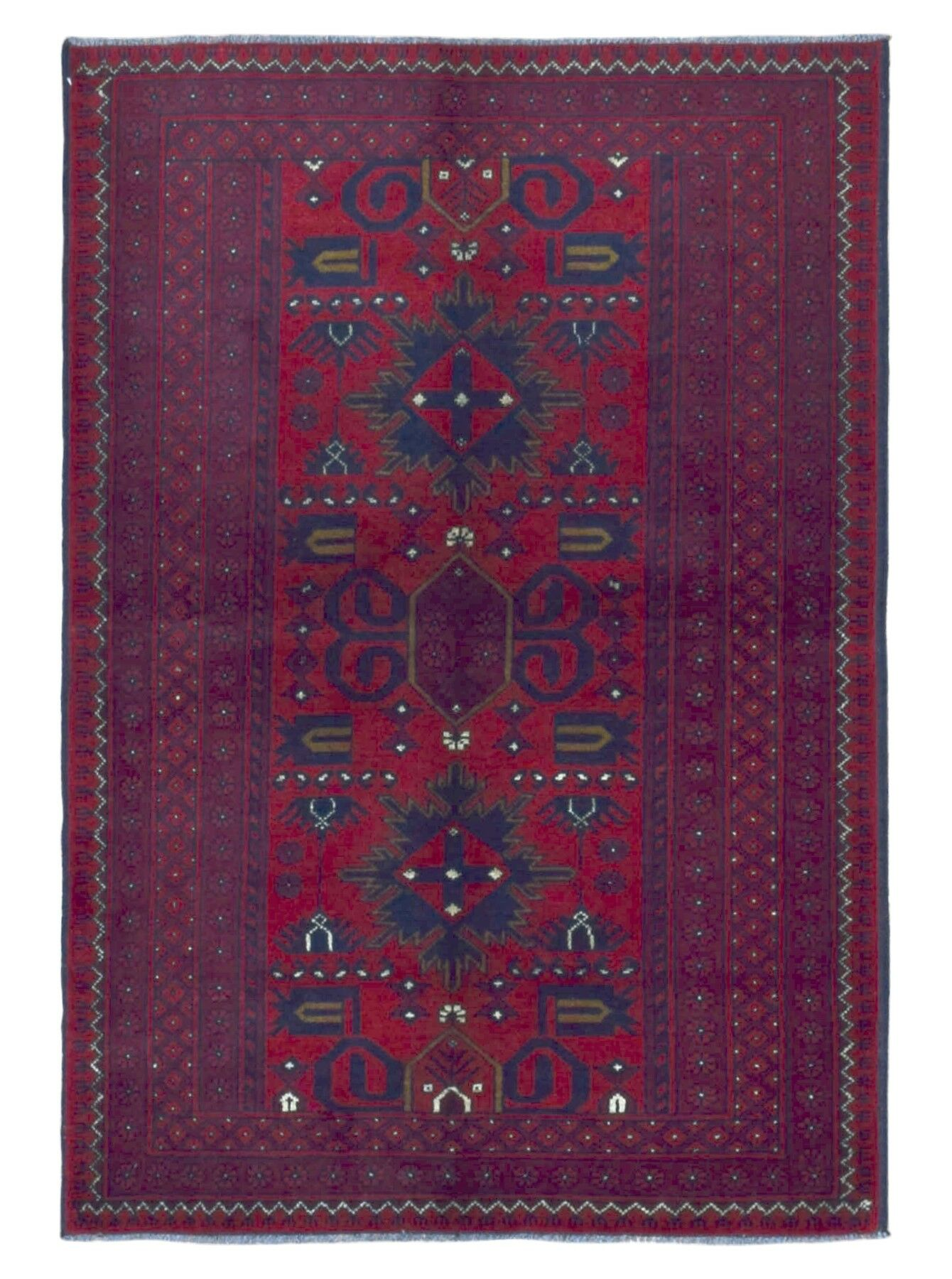 One-Of-A-Kind Esperanza Hand Woven Wool Red/Black Area Rug