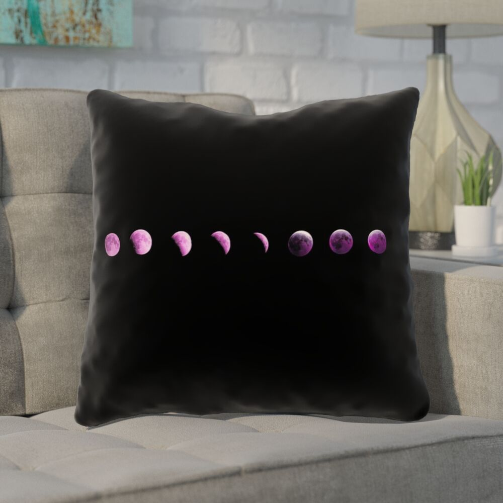 Enciso Moon Phase Throw Pillow Size: 26