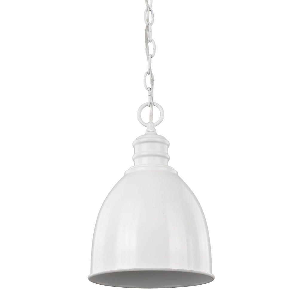 Dollard 1-Light Bell Pendant Finish: White