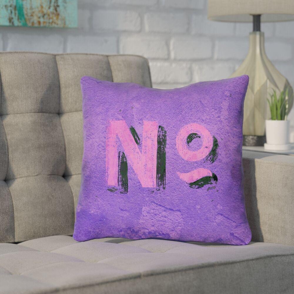 Enciso Graphic Wall Outdoor Throw Pillow Size: 16