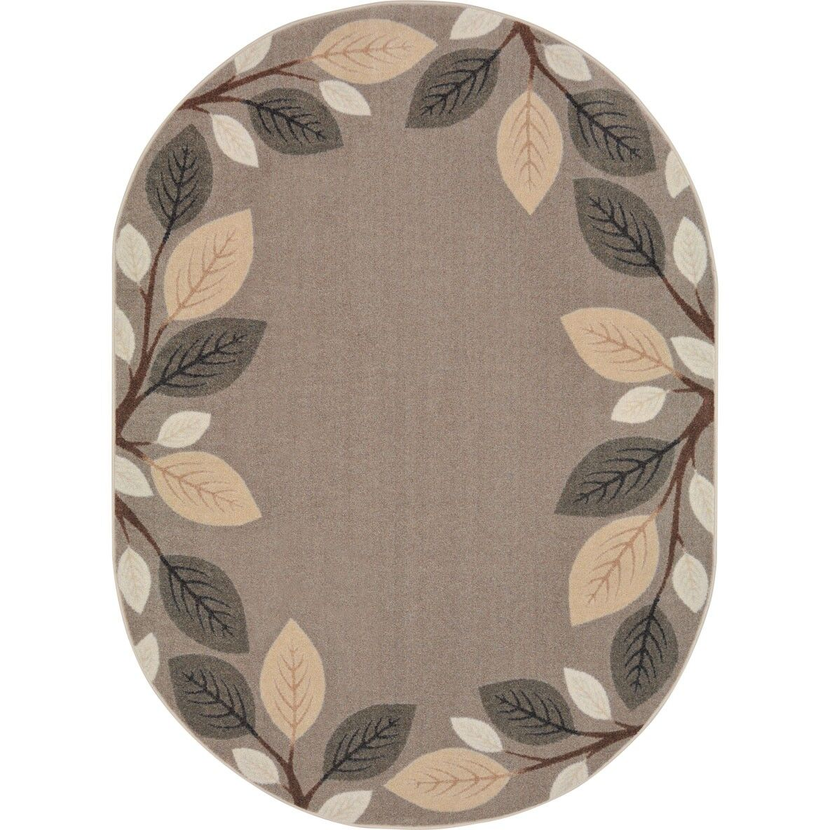 Allred Breezy Branches Brown Area Rug Rug Size: Oval 7'8