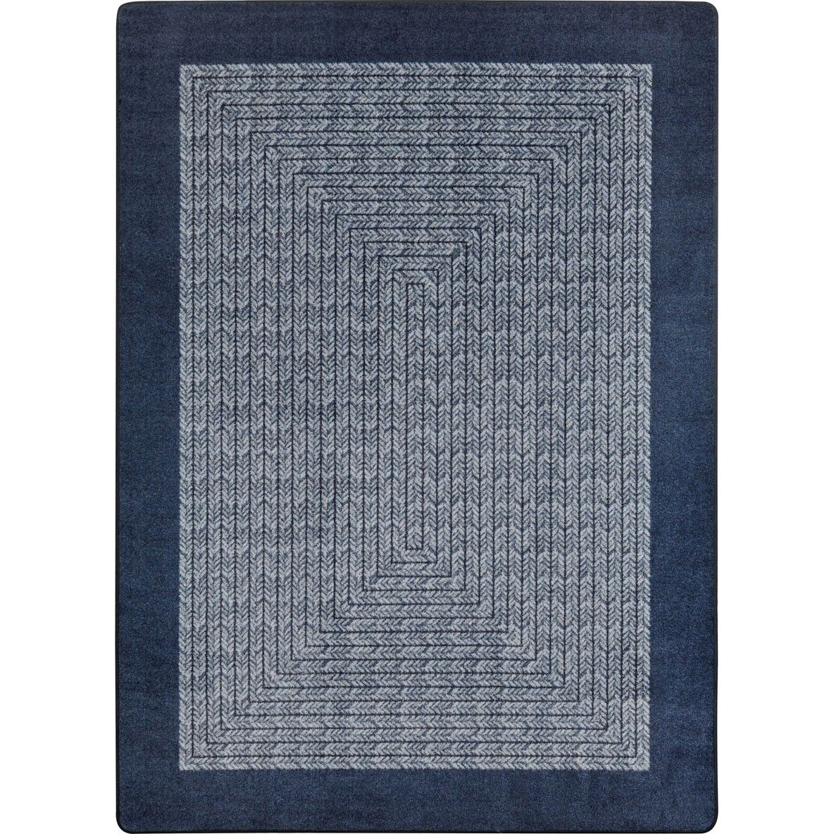 Constantine Navy Area Rug Rug Size: Oval 3'10