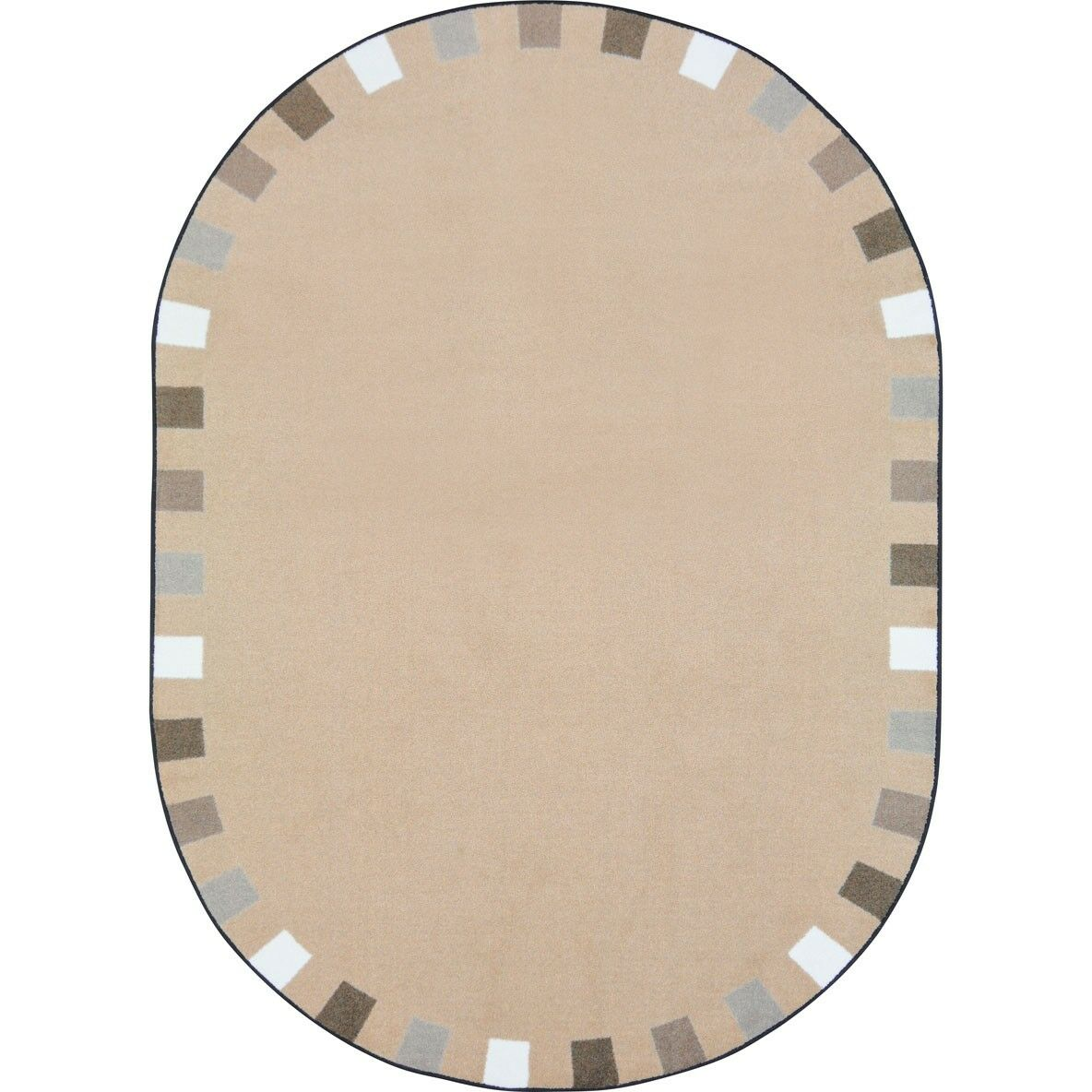 Alpinia on the Border Brown Area Rug Rug Size: Oval 7'8