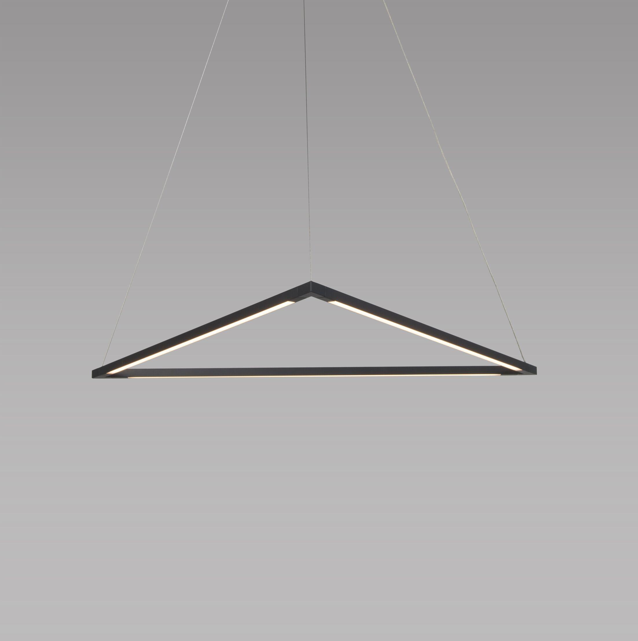 Z-Bar 3-Light LED Geometric Pendant Finish: Matte Black, Size: 26.39