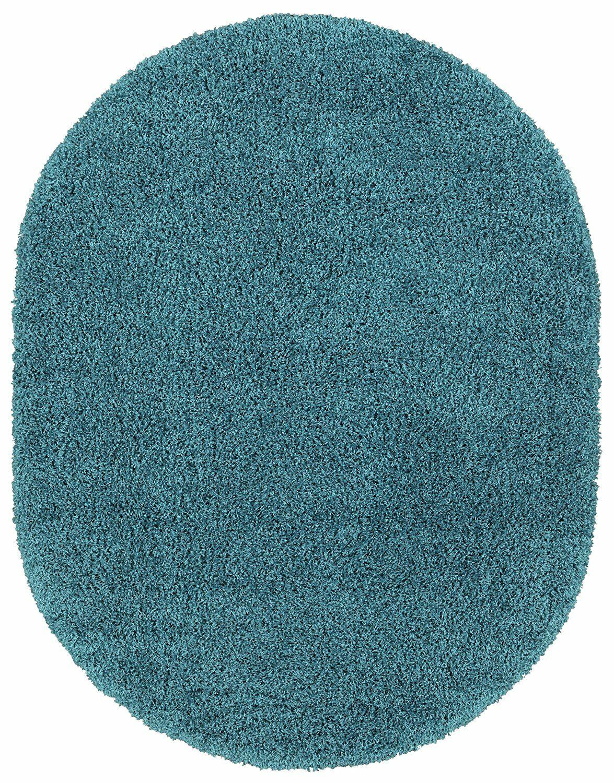 Cozy Turquoise Area Rug Rug Size: Oval 5'3
