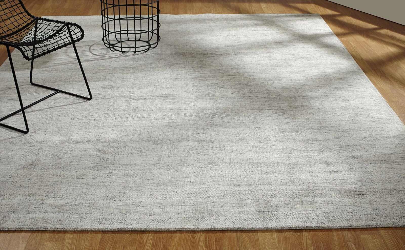 Doddridge Hand-Knotted Gray Area Rug Rug Size: Rectangle 8'6