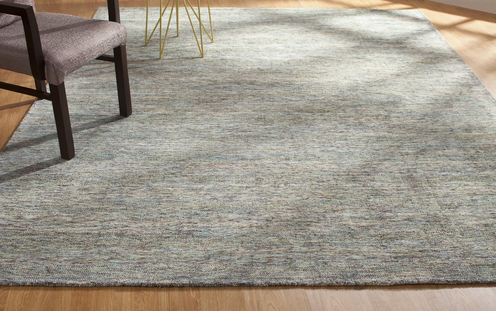 Dodds Hand-Knotted Gray Area Rug Rug Size: Rectangle 5'6