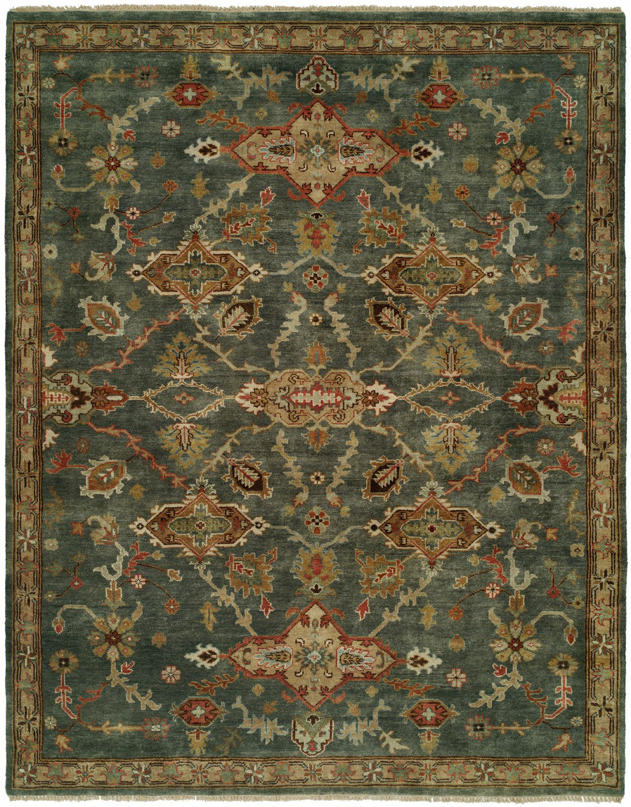 Edna Hand Knotted Wool Blue Area Rug Rug Size: Runner 2'6
