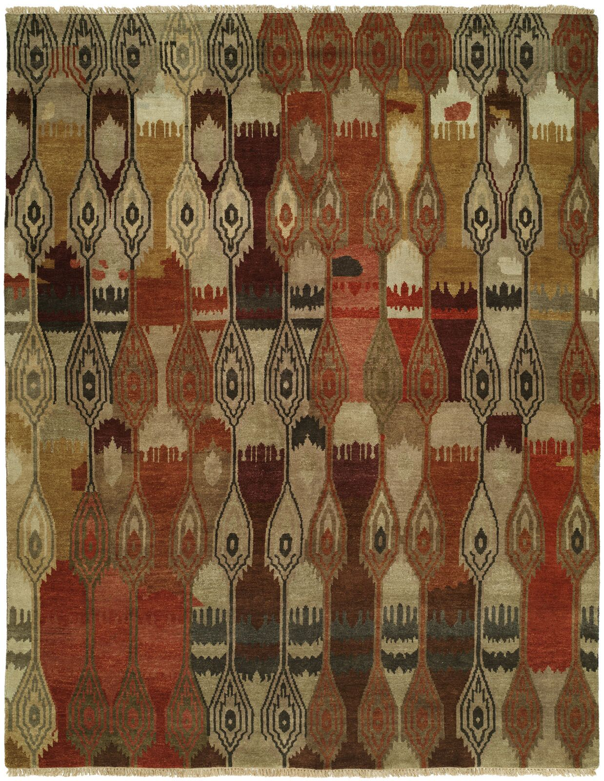 Weinstock Hand Knotted Wool Beige/Brown Area Rug Rug Size: Rectangle 2' x 3'