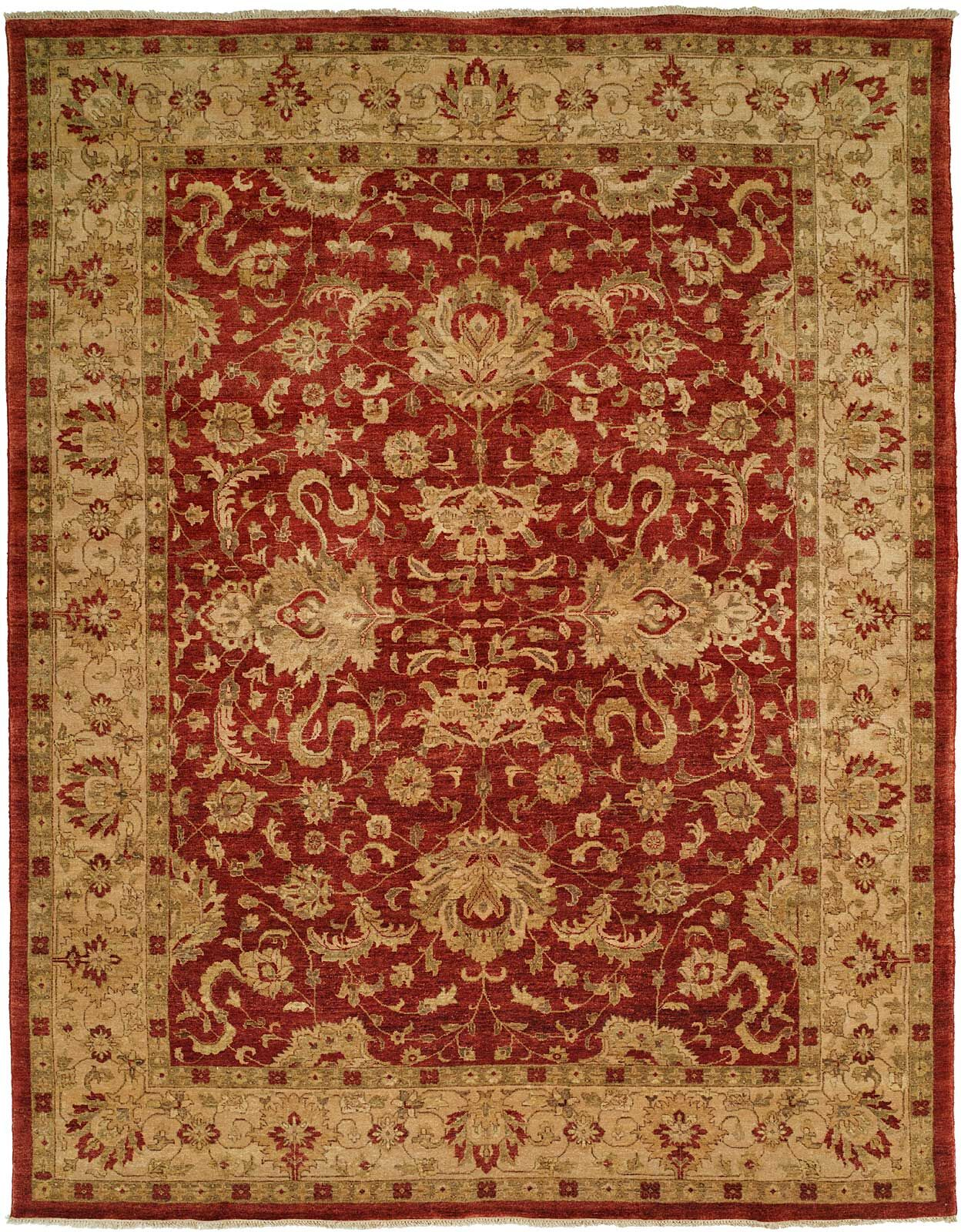 Mcdougall Hand Knotted Wool Rust/Ivory Area Rug Rug Size: Rectangle 12' x 18'