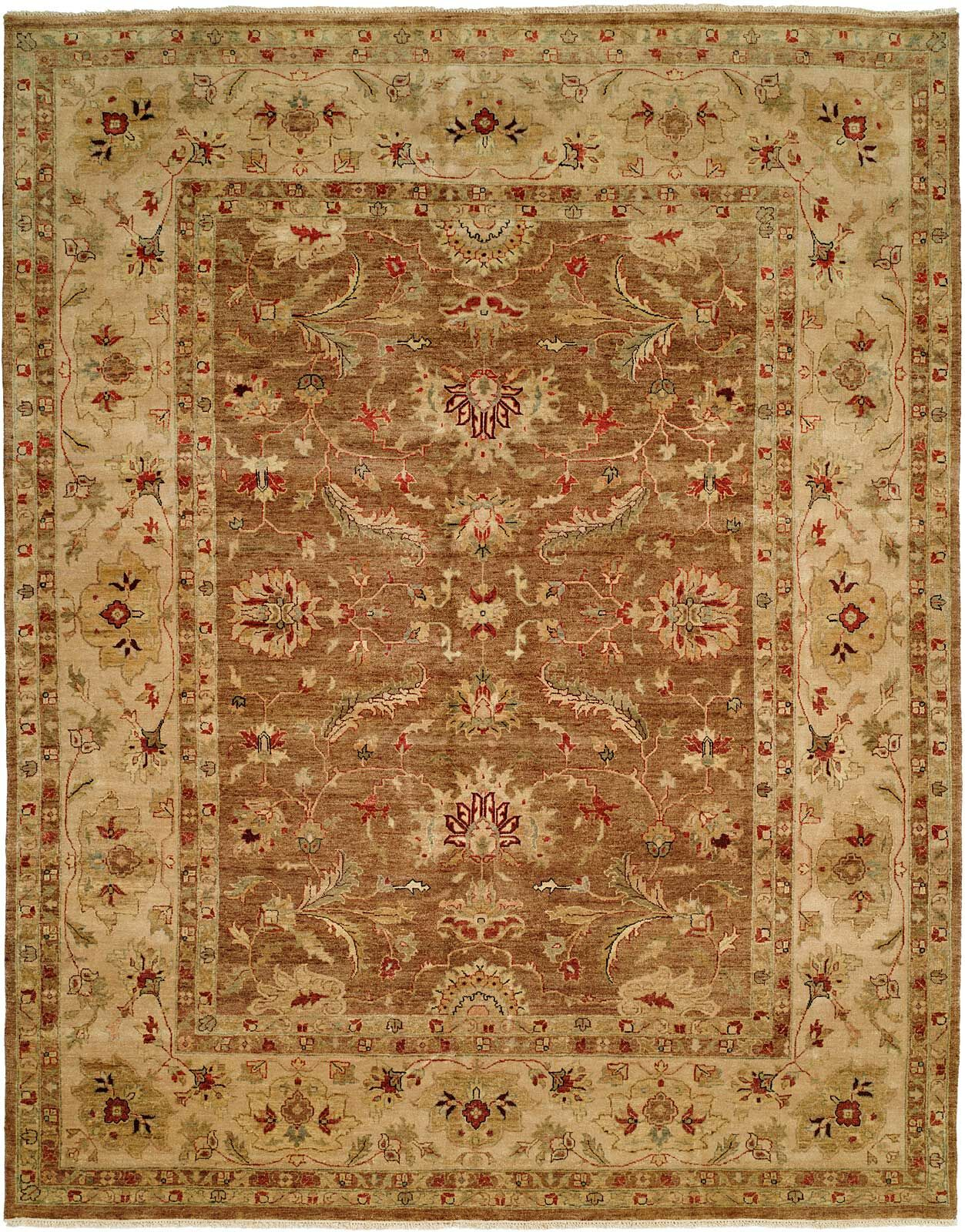 Devansh Hand Knotted Wool Brown/Beige Area Rug Rug Size: Rectangle 12' x 15'