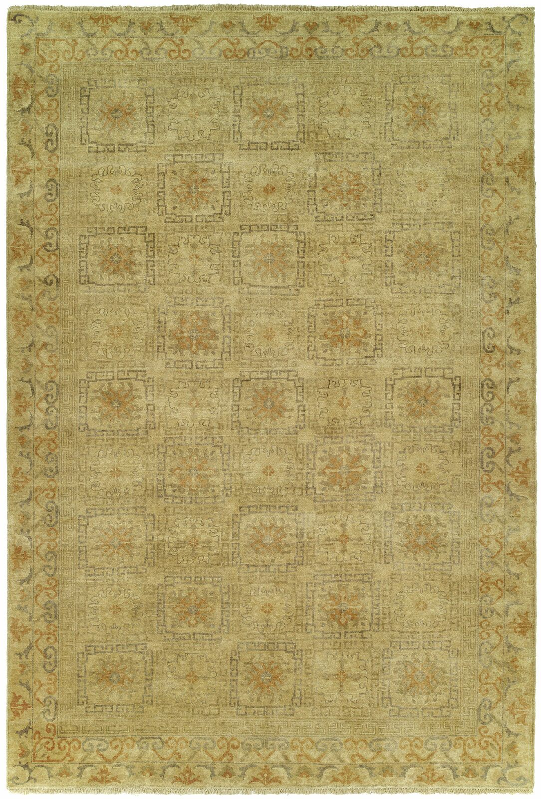 Griswald Hand Knotted Wool Ivory Area Rug Rug Size: Rectangle 12' x 15'