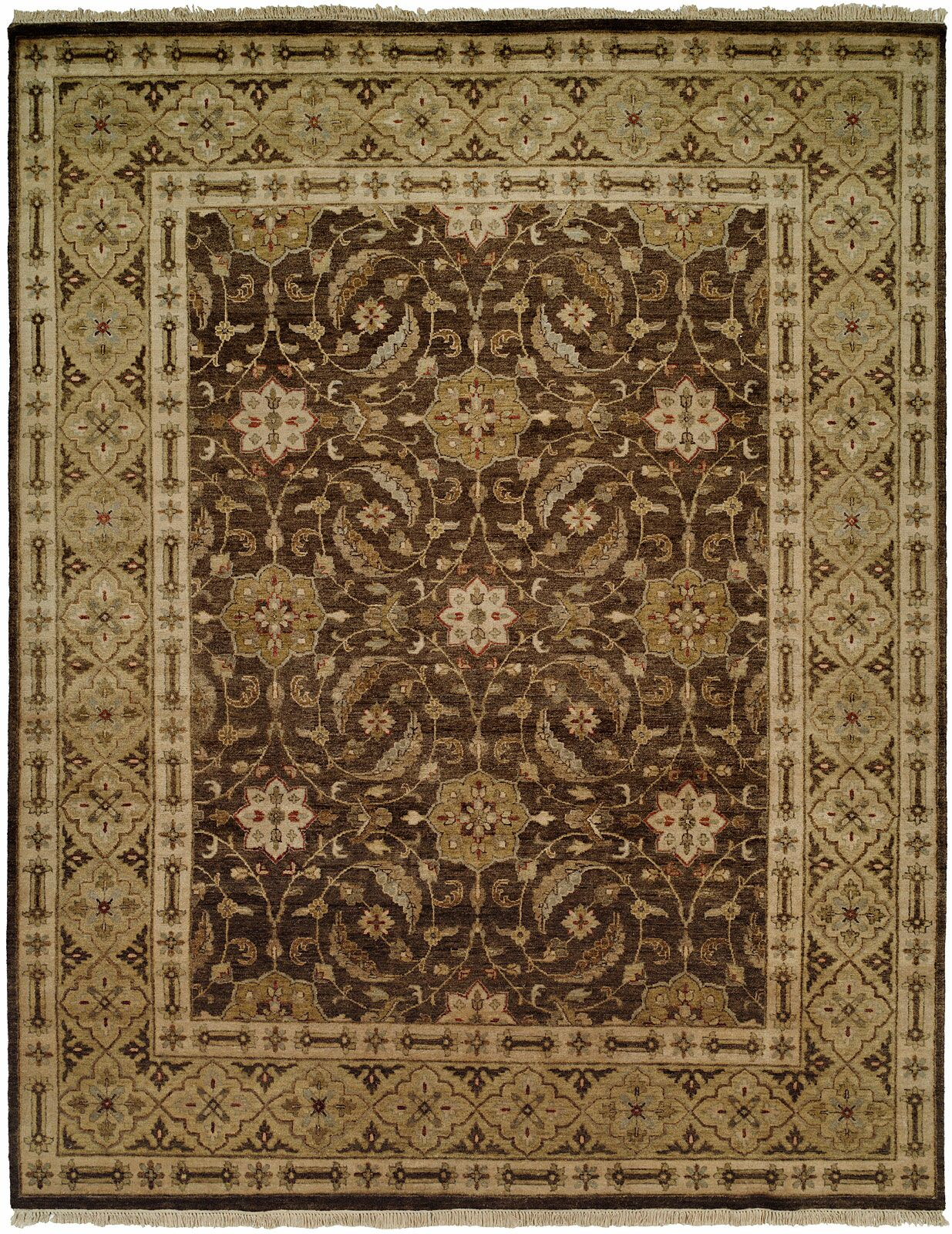Maxine Hand Knotted Wool Brown/OliveArea Rug Rug Size: Runner 2'6