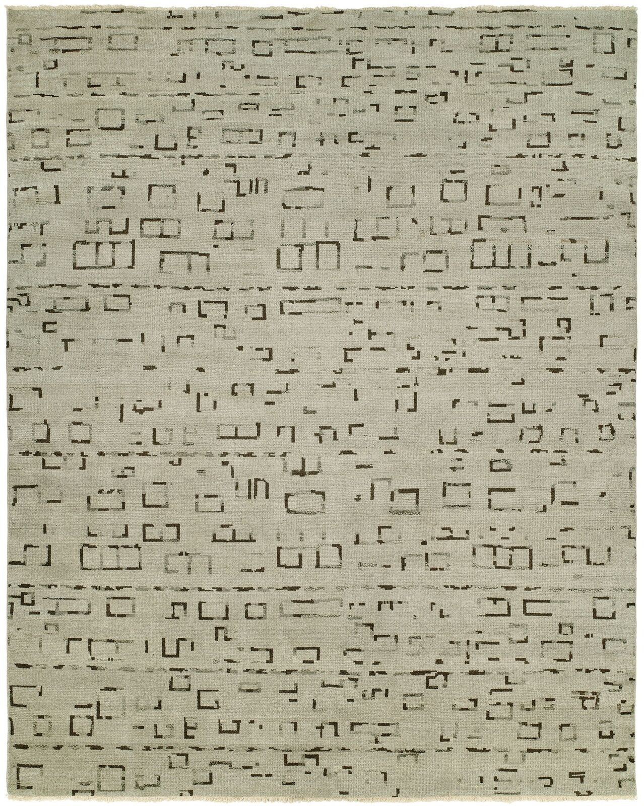 Shyla Hand-Knotted Wool Ivory Area Rug Rug Size: Rectangle 8' x 10'