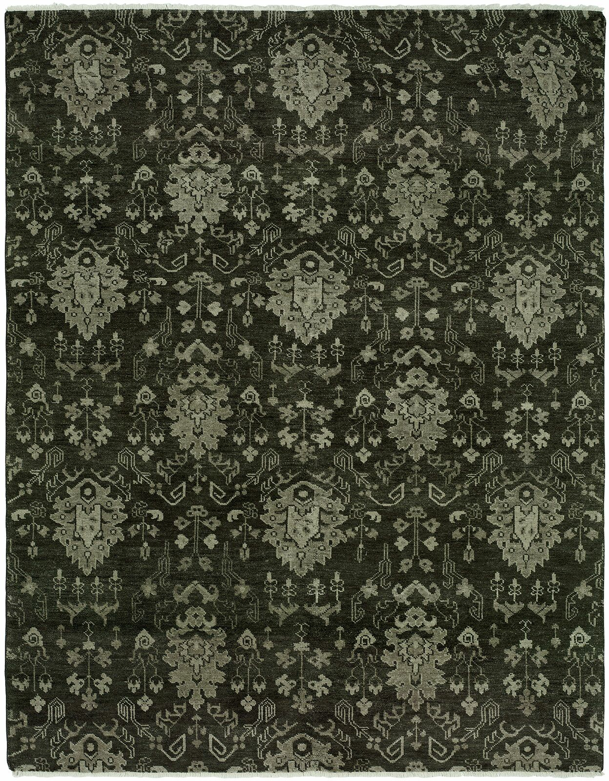 Area Rugs Donahue Hand Knotted Wool Dark Gray Area Rug