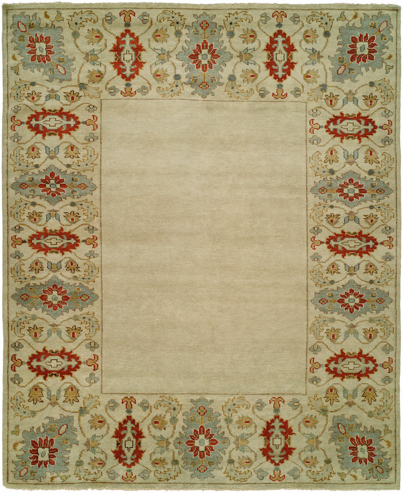 Dolton Hand Knotted Wool Ivory Area Rug Rug Size: Rectangle 12' x 15'