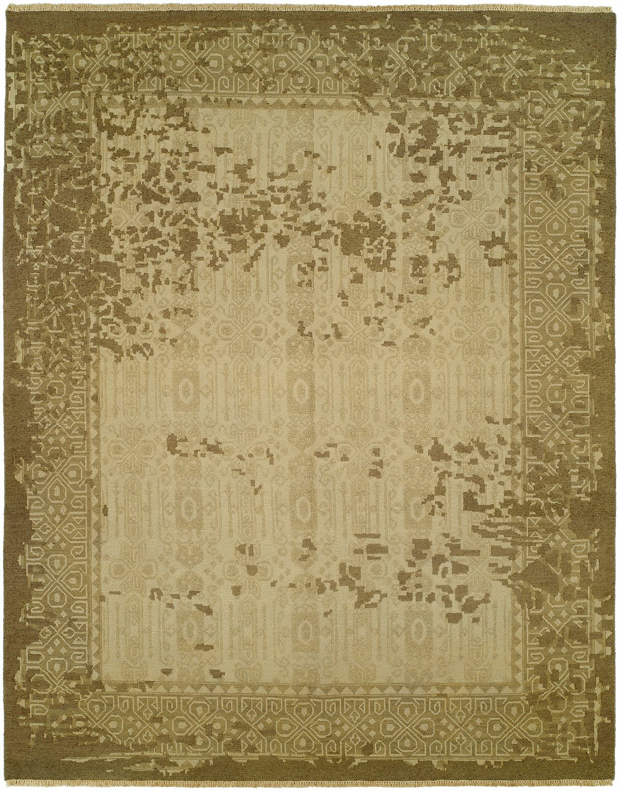 Griselde Wool Beige/Brown Area Rug Rug Size: Rectangle 8' x 10'