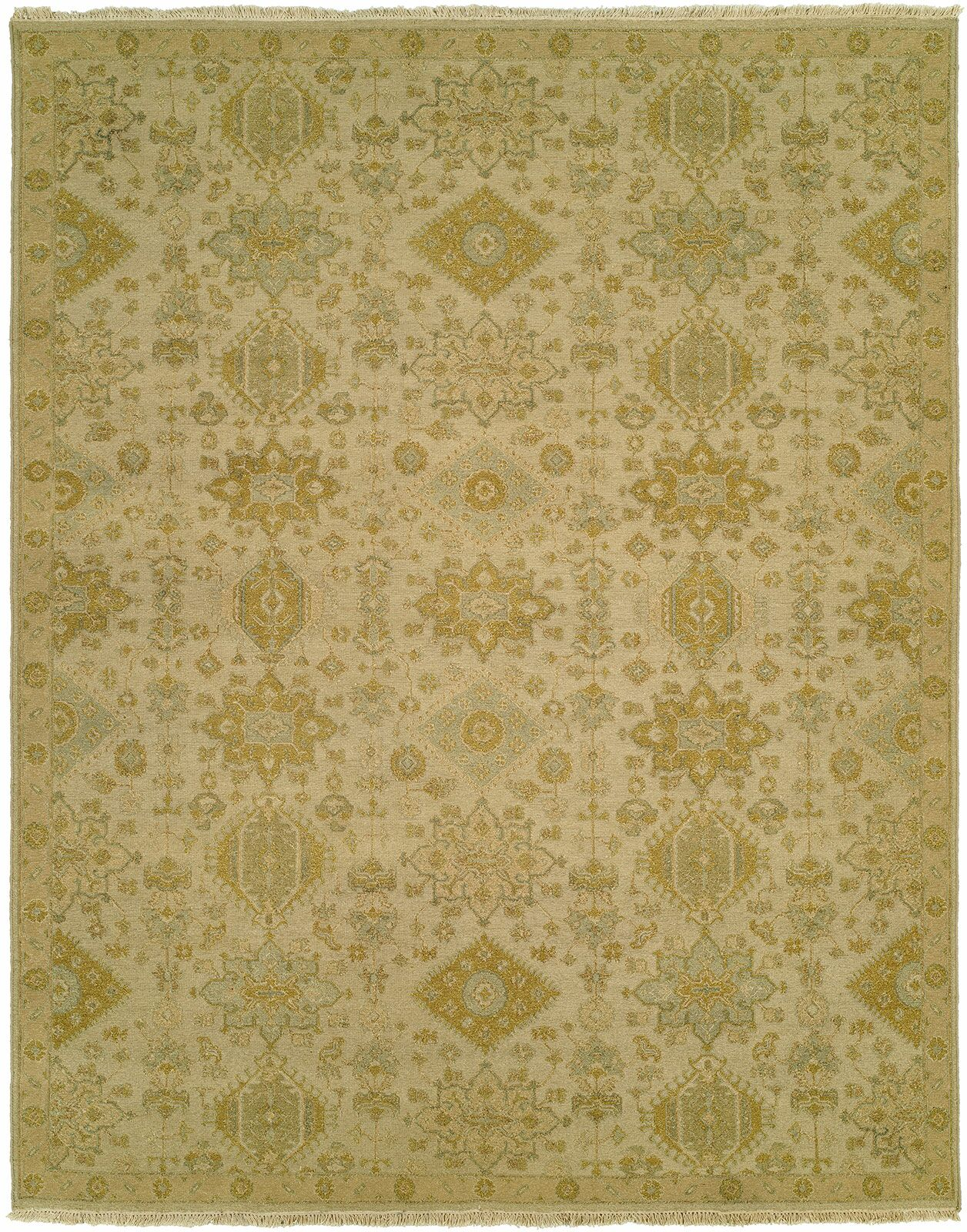 Faiyaz Wool Gold/Beige Area Rug Rug Size: Rectangle 6' x 9'