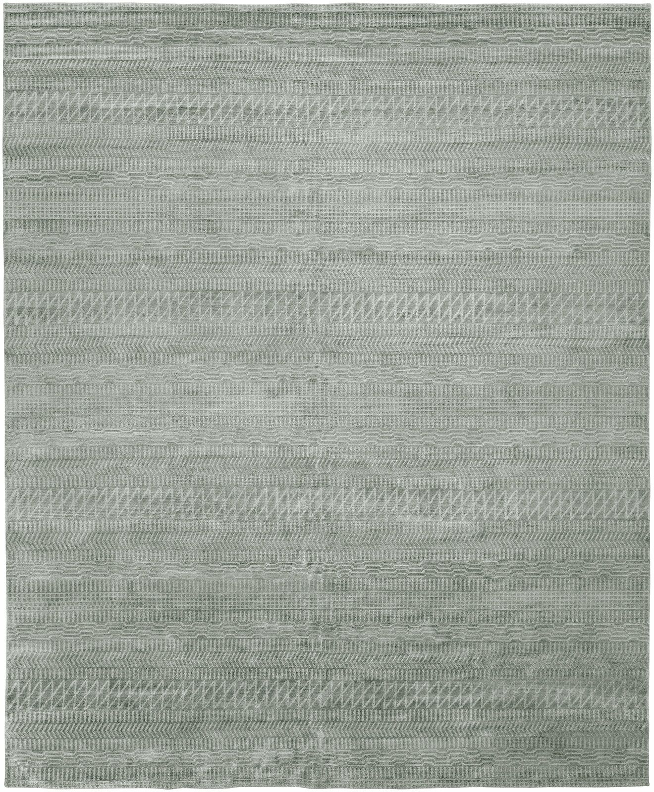 Heacock Hand-Knotted Wool Gray Area Rug Rug Size: Rectangle 8' x 10'