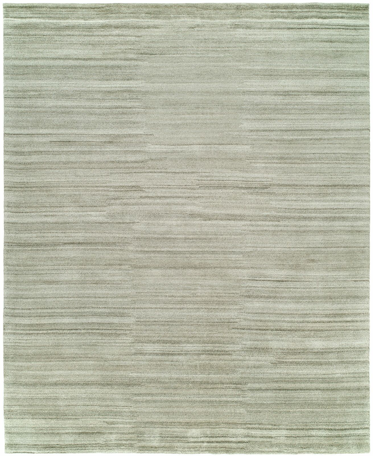 Delaine Hand-Knotted Wool Gray Area Rug Rug Size: Rectangle 3' x 5'