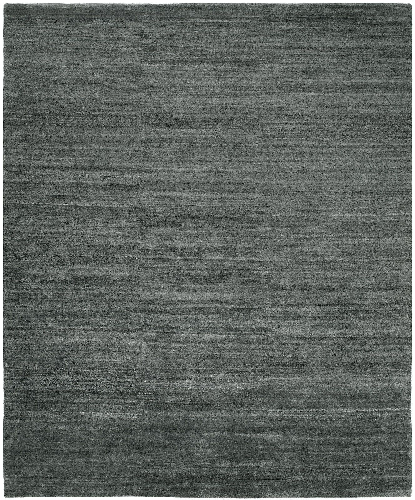 Signe Hand-Knotted Wool Gray Area Rug Rug Size: Rectangle 10' x 14'