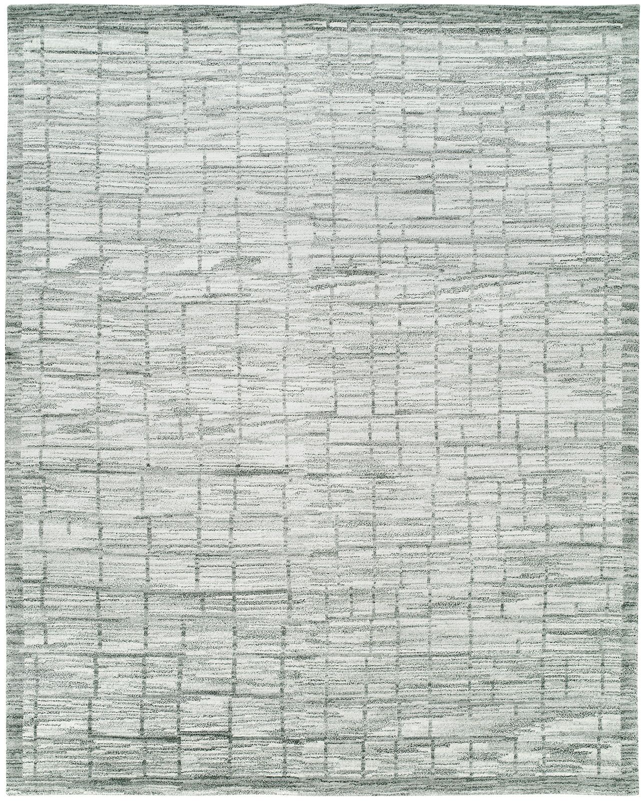 Shonda Hand-Knotted Wool Gray/Ivory Area Rug Rug Size: Rectangle 6' x 9'