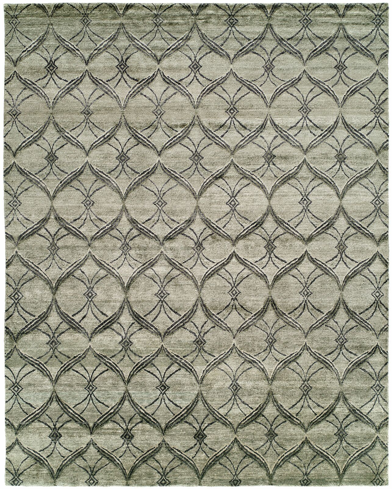 Montauk Hand-Knotted Gray Area Rug Rug Size: Runner 2'6