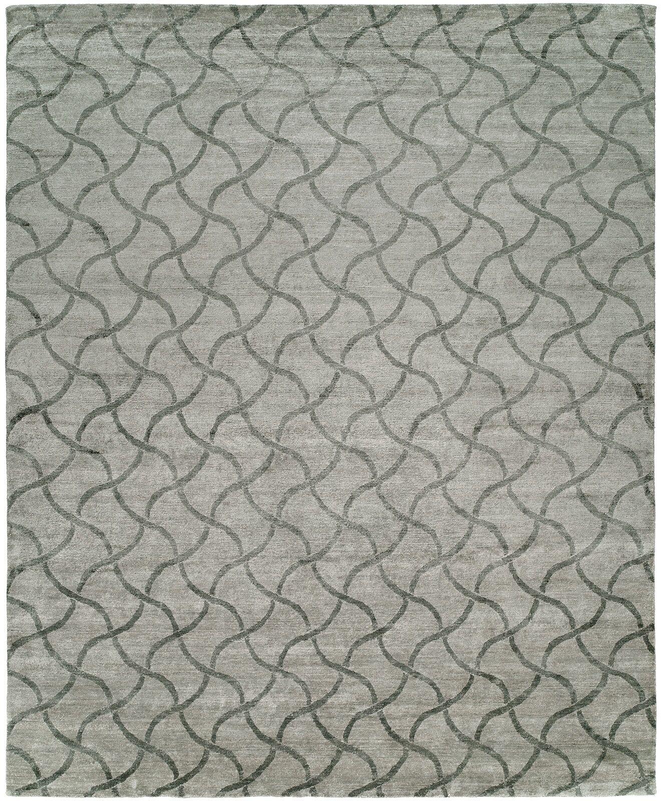 Hazeltine Hand-Knotted Platinum Area Rug Rug Size: Rectangle 12' x 15'