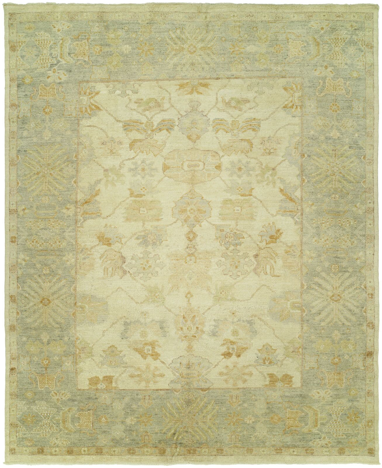 Mathers Hand Knotted Wool Ivory Area Rug Rug Size: Rectangle 2' x 3'