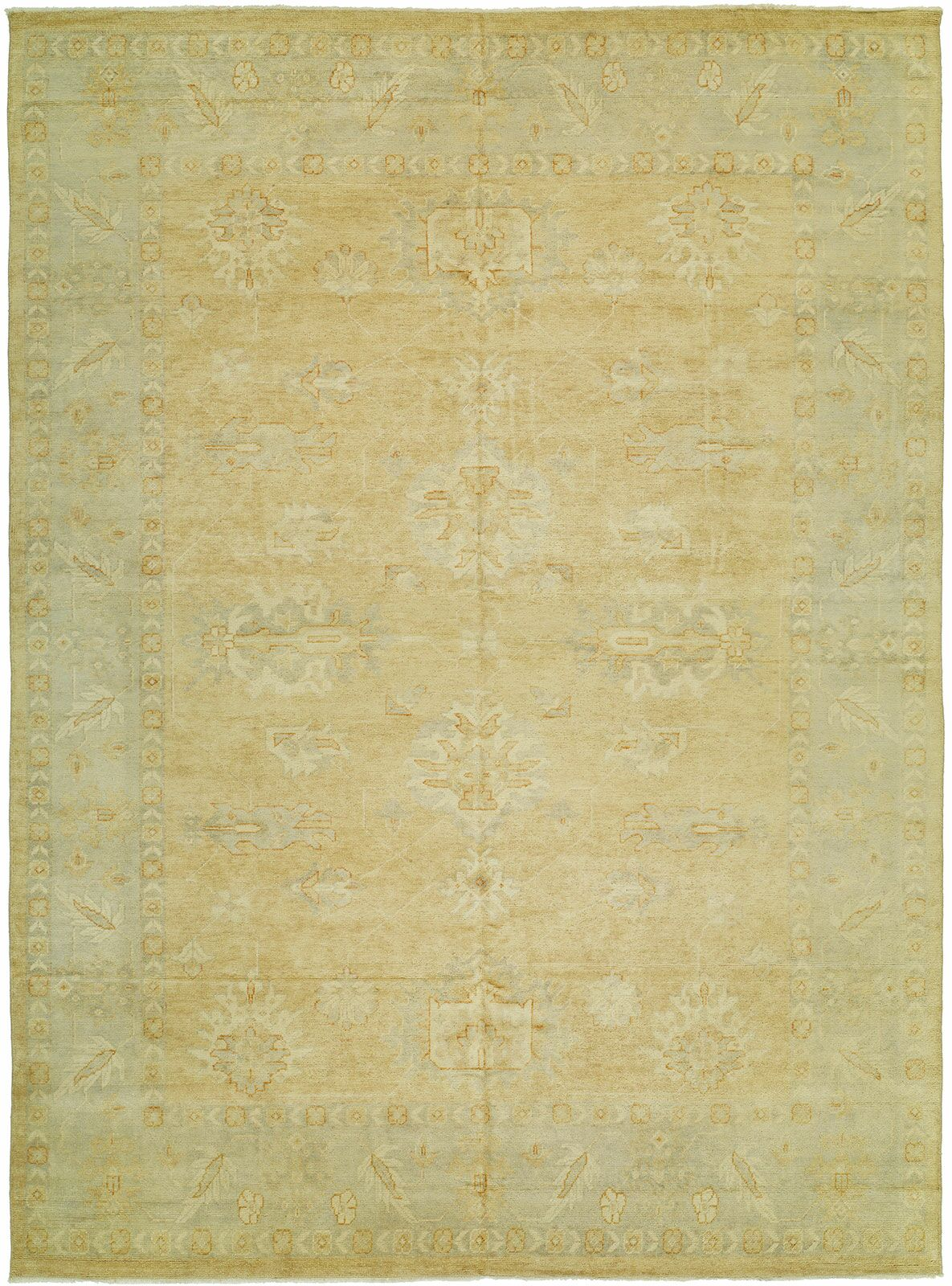Herrin Hand Knotted Wool Terracotta/Blue Area Rug Rug Size: Rectangle 9' x 12'