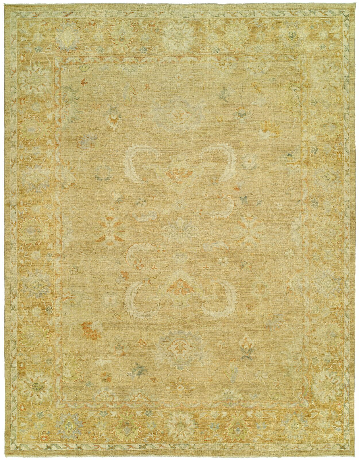 Matheson Hand Knotted Wool Gold Area Rug Rug Size: Rectangle 4' x 6'
