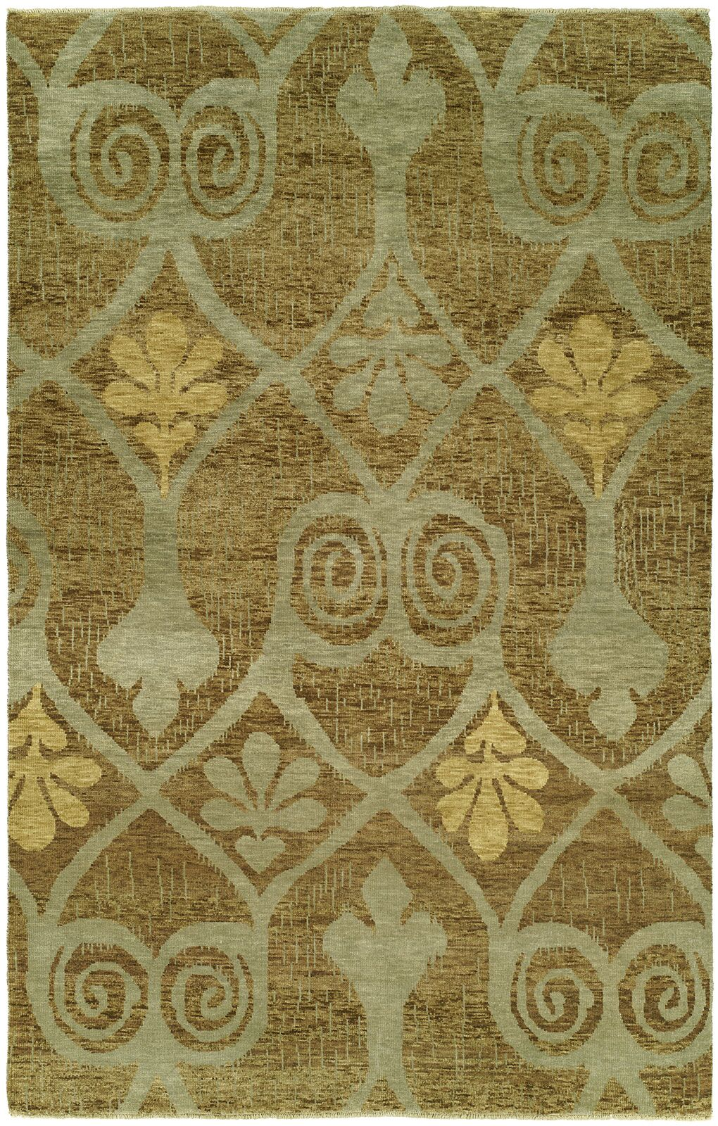 Hancox Hand Knotted Wool Brown Area Rug Rug Size: Rectangle 2' x 3'
