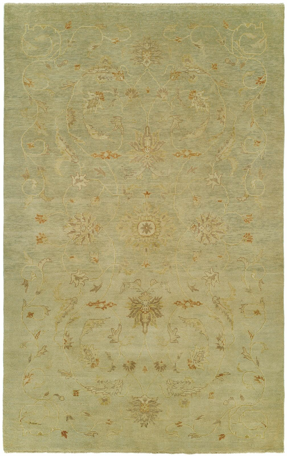 Jasmine Hand Knotted Wool Beige Area Rug Rug Size: Rectangle 2' x 3'