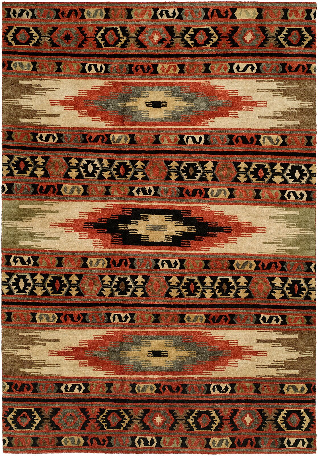 Savanna Hand-Knotted Wool Red Area Rug Rug Size: Runner 2'6
