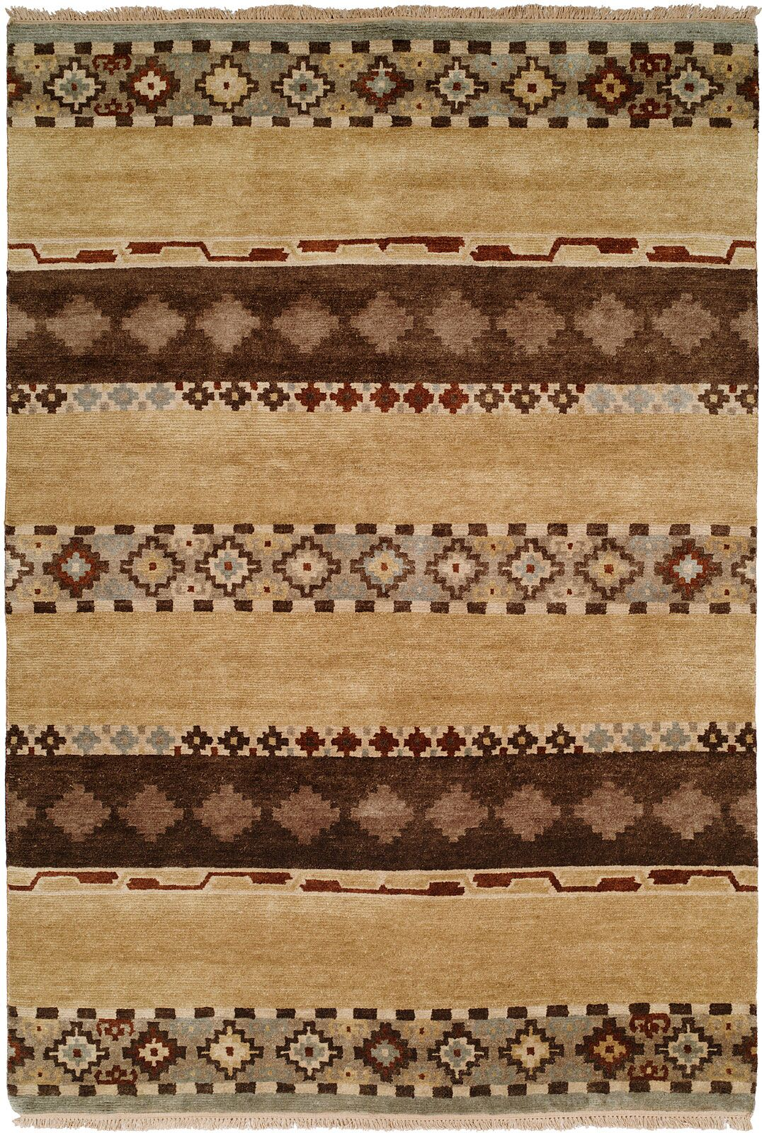 Shayla Hand-Knotted Wool Brown Area Rug Rug Size: Runner 2'6